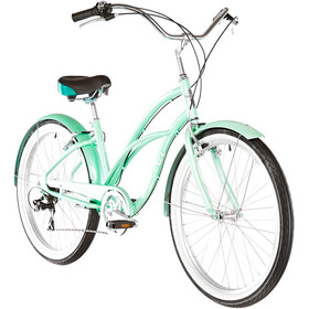 Electra Cruiser Lux 7D Zwart Dames, sea green metallic